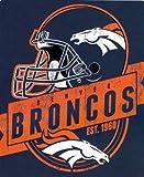 "NFL Denver Broncos 50 x 60-Inch ""Grandstand"" Design Raschel Throw Blanket"