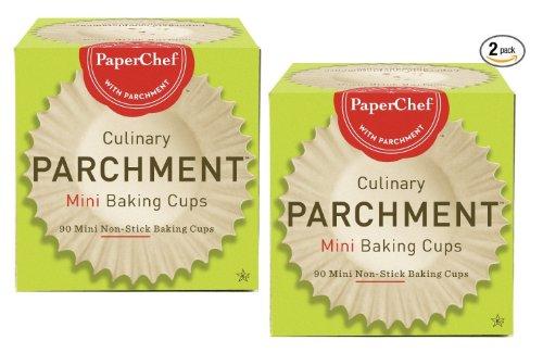 (2 Pack) Mini Paper Cupcake Liners / Baking Cups, 90-Ct/Box