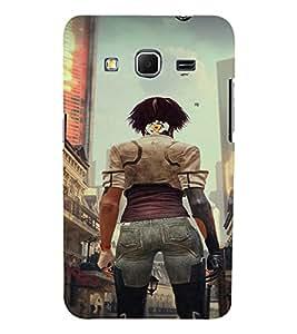 PrintVisa Fighter Girl Art 3D Hard Polycarbonate Designer Back Case Cover for Samsung Galaxy Core Prime G360