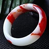 castlexinjiang hetian Jade Bracelet, hetian Jade Chicken Blood red Rosy Color Jade Bracelet Bangle Gold Children