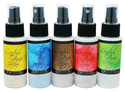 Lindy's Stamp Gang Starburst Spray Set, Prairie Wildflowers, 2 oz, Pack of 5