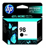 HP 98 Black Ink Cartridge in Retail Packaging (C9364WN)