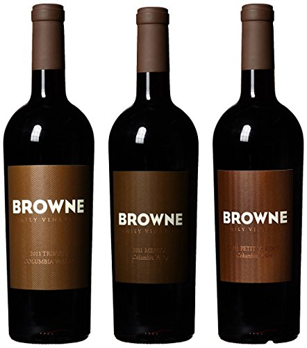 Browne Family Vineyards Holiday Reds Wood Gift Box Mixed Pack, 3 X 750Ml