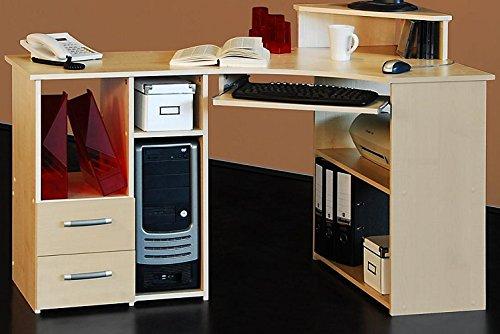 3-3-2-521: made in BRD – PC-Tisch – Eck Schreibtisch – 137cm ahorn kaufen
