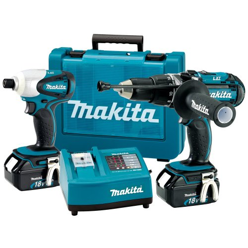 Makita LXT202 18V LXT Lithium-Ion Kit with 2 x Batteries (2 Pieces)