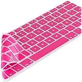 kwmobile Robuster, hauchdünner Tastaturschutz aus Silikon für Apple MacBook Air 13''/ Pro Retina 13''/ Pro Retina 15'' in Pink - effektiver Schutz vor Verschmutzung und Abnutzung