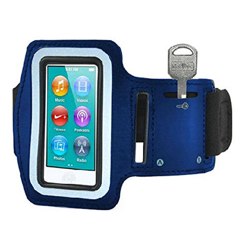 ABC® Exercis Sport Running Armband Cover Case For iPod Nano 7th Gen (Blue)