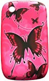 Xtra-Funky Exclusive Soft Silicone Pink/black ButterFly Case for Blackberry Curve 8520/9300