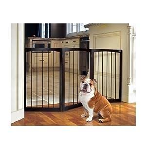 Amazon Com Folding Wood Pet Gate Expandable Tall Indoor