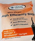 9 Hoover Type Y Vacuum Allergen filtration Bags with Closure - Compare With Hoover Vacuum Part # 4010100Y ; Designed & Engineered by Envirocare