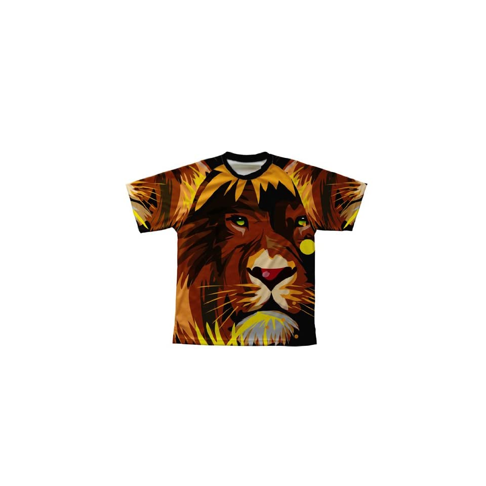 Lion Abstract Technical T Shirt for Men