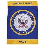 "In The Breeze U.S. Navy Emblem 12"" X 18"" Garden Flag"