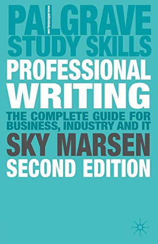 Professional Writing: 2nd Edition (Palgrave Study Skills)
