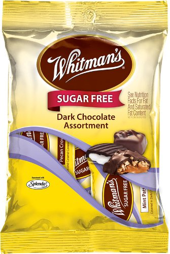 Russell Stover Whitman's Sugar Free Peg Bag, Assorted Dark Chocolate, 3.2-Ounce (Pack of 12)