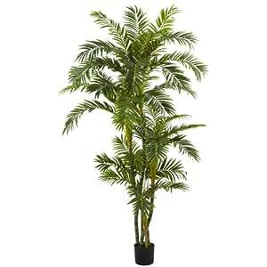 wholesale 6ft curvy parlor palm silk tree decor silk flowers home kitchen. Black Bedroom Furniture Sets. Home Design Ideas