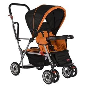 Joovy Caboose Stand On Tandem Stroller, Orange