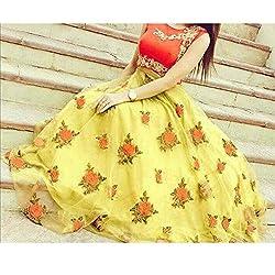 Crazy Butik women Yellow Banglori lehenga Choli