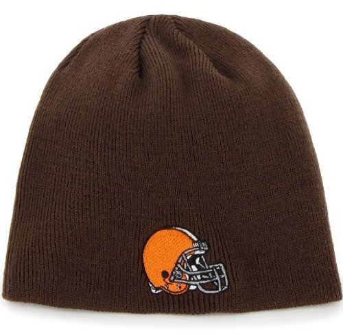 NFL Cleveland Browns Men's Beanie Knit Cap, One Size, Brown at Amazon.com