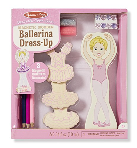 Melissa & Doug DYO Magnetic Ballerina Dress-Up