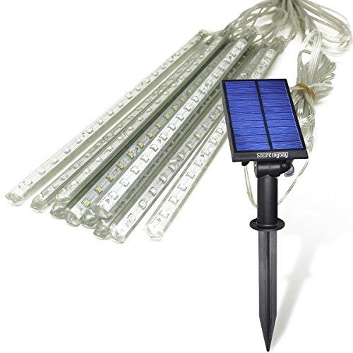 Led String Lights Home Hardware : Led Solar Outdoor Lights, Jeasun 45ft 10 Bars 360 LEDs Falling Rain Drop/Meteor Shower String ...