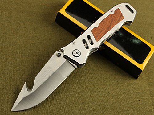 Silver Speed Ring Flipper Knife Hook Opening Knife-8.26''