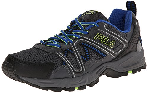 Fila Men's Ascente 15 Trail Running Shoe, Black/Castle Rock/Prince Blue, 10 M US