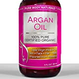 BEST ORGANIC Argan Oil For Hair, Face, Skin & Nails - HUGE 4OZ Bottle - Triple Purified Moroccan Argan Oil - Perfect Gift for Men & Women, 100% PURE & ECOCERT Certified - Therapeutic for All Skin Conditions - Very Lightweight & Delicate Oil gives INSTANT results leaving Soft, Silky, Hydrated Hair, Free from Split Ends and Frizz. Also very effective for Anti-Aging and treating Acne, Dry Scalp, Stretch Marks, and Psoriasis. Our Amazing Natural Argan Oil Will Leave Your Hair, Skin & Body More Radiant, Beautiful & Youthful Looking. Well refund your money if not satisfied! Try Without Risk Today!