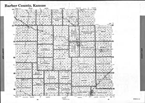 Index Map, Barber County 2002, Kansas, 2002 Fine-Art Reproduction