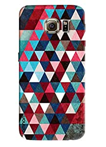 Omnam Pattern printed dark design triangular back cover for Samsung Glaxy S6