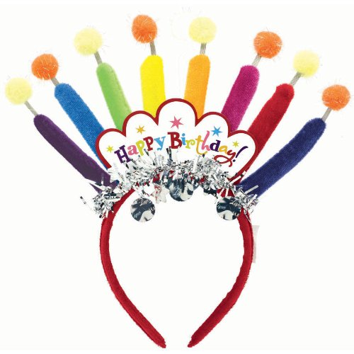 Amscan Mens Birthday Candle Headband Various - Color May Vary Medium