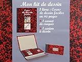 echange, troc Hachette - Mon kit de dessin : 1 livre : Cours de dessin faciles; 1 carnet de croquis; 1 carton à dessin