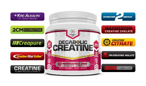 Nutracell Labs Decabolic Creatine - Powerful 10 Blend Creatine - Extreme Anabolic Muscle, Strength and Size Boost
