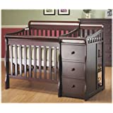 Newport 2-in-1 Convertible Mini Crib and Changer Combo