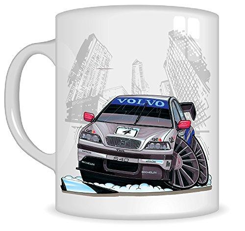 koolart-gifts-k042-mg-cartoon-of-volvo-s40-btcc-98-caricature-silver-volvo-mug-gift-for-men-mugs