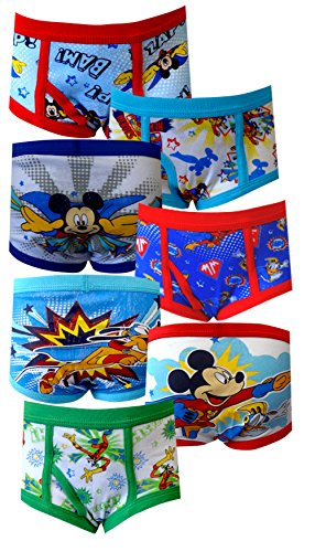 Mickey Mouse Clubhouse Mickey the Hero 7 Pack Toddler Briefs for Little Boys