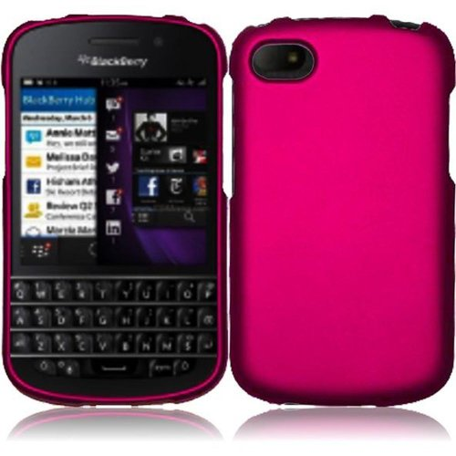 Cell Accessories For Less (Tm) For Blackberry Q10 Rubberized Cover Case - Rose Pink // Free Shipping By Thetargetbuys