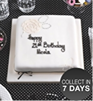 Black & White Celebration Sponge Cake