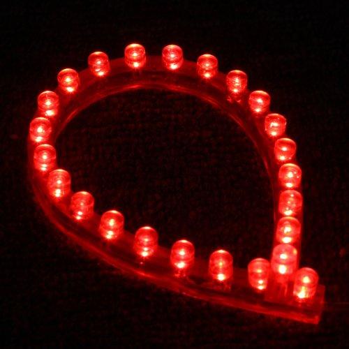Docooler® 2 Pcs 24Cm 24 Leds Flexible Waterproof Pvc Light Strip Red12V