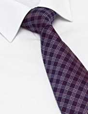 Machine Washable Spotted Checked Tie