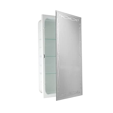Head West Classic Venetian Mirror Recessed Medicine Cabinet, 16-Inch by 26-Inch
