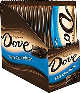 Dove Milk Chocolate Candy Bar, Sharing Size (12 Count)
