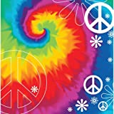 Creative Converting Tie Dye Fun 18 Count 2-Ply Paper Lunch Napkins