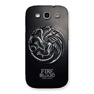 Gorgeous Blood Fire Emb Back Case Cover for Galaxy S3