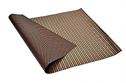Brown 'n' Golden Polka Dots and Horizontal Stripes, Reversible, Italian Wrapping Paper