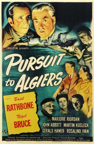 Sherlock Holmes in Pursuit To Algiers Movie Poster