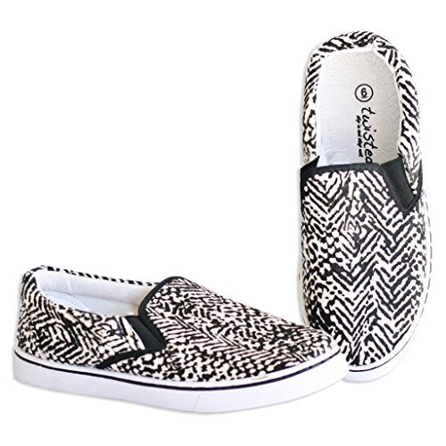 Twisted Womens Core Classic Pony Fur Slip-On Slim Lo-Top Casual Sneakers - White, Size 8