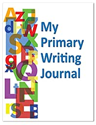 BookFactory® Elementary School My Primary Writing Journal / Classroom My Primary Writing Journal Book (K-2nd Grade) (Top Half Blank, Bottom Half Manuscript Ruled Format - 8.5\