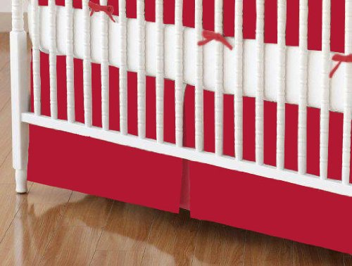 Solid Red Crib Bedding front-1023543