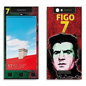 Bluegape Gionee E7 Mini Luis Figo Football Player Phone Skin Cover, Multicolor