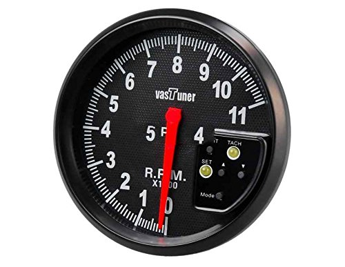 """Generic 5"""" Colorful Shift Light Speedometer Tachometer With Alarm (Black)"""